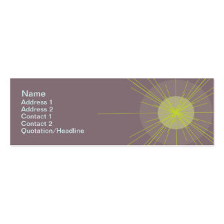 Radial - Skinny Double-Sided Mini Business Cards (Pack Of 20)