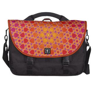 Radial Sun Flower Pattern Laptop Bags