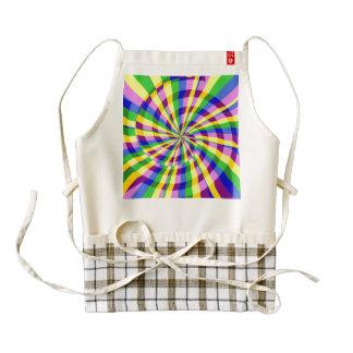 Radial swirl zazzle HEART apron