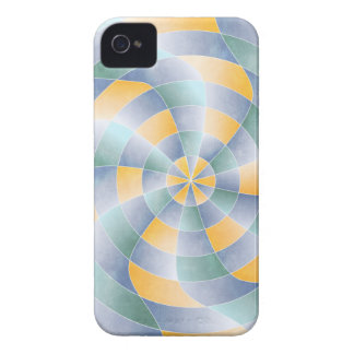 Radial Wavey Pattern iPhone 4 Case-Mate Case