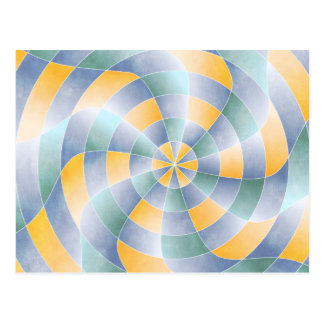 Radial Wavey Pattern Postcard