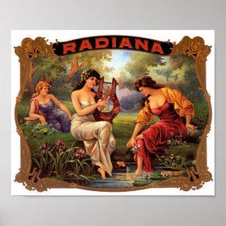 Radiana Cigar Label Poster