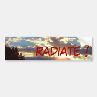 Radiance Bumper Sticker - custom text Car Bumper Sticker