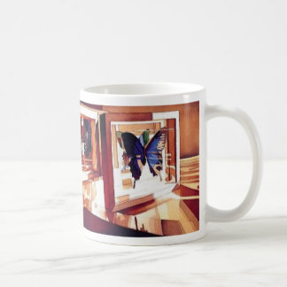 """""""Radiance"""" Butterfly Sill Life Watercolor Coffee Mug"""