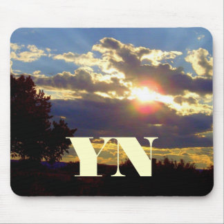 Radiance Monogrammed Mouse Pad