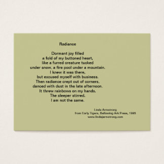 Radiance Poetry Trading Card