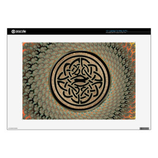 "Radiant Autumn Fractal Celtic Shield Knot 15"" Laptop Skins"