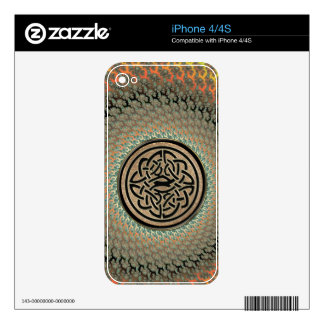 Radiant Autumn Fractal Celtic Shield Knot Skins For iPhone 4S