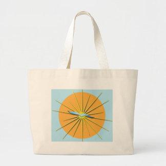 Radiant Bird Flying Over Sun Rays Bags
