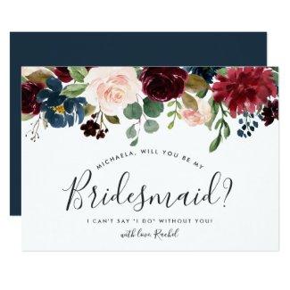 Radiant Bloom Be My Bridesmaid Card