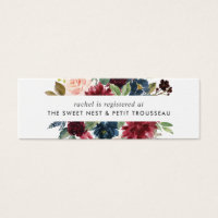 Radiant Bloom Bridal Registry Insert Cards | Mini