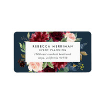Radiant Bloom Business Return Address Label