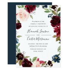 Radiant Bloom Floral Frame Wedding Invitation at Zazzle