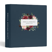 Radiant Bloom Floral Logo Binder