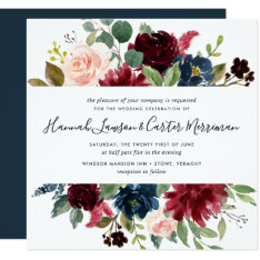 Radiant Bloom Floral Wedding Invitation   Square at Zazzle