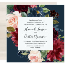 Radiant Bloom Frame Wedding Invitation | Square