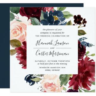 Radiant Bloom Frame Wedding Invitation | Square