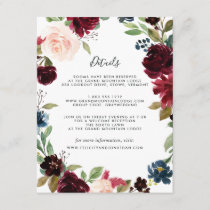 Radiant Bloom Guest Information Card