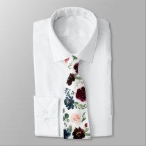 Radiant Bloom | Large Scale Floral Patterned Neck Tie