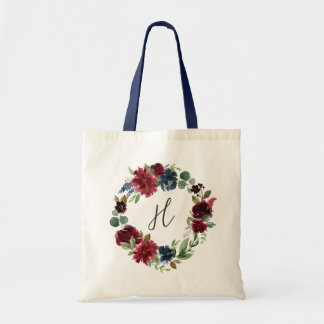Radiant Bloom Monogram Tote Bag