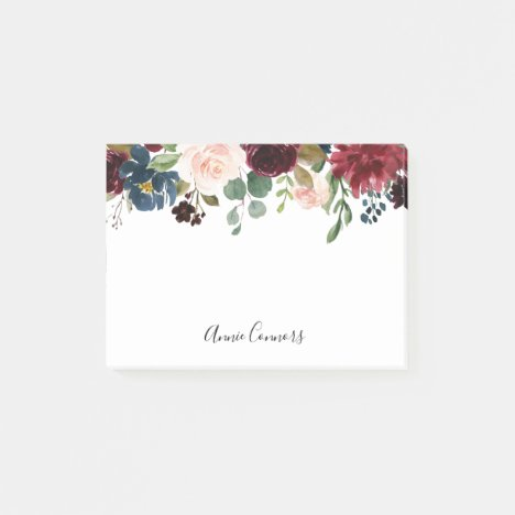 Radiant Bloom Personalized Post-it Notes