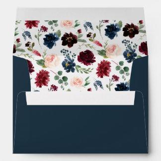 Radiant Bloom Pre-Printed Return Address 5x7 Envelope