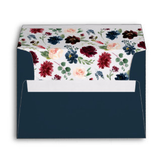 Radiant Bloom Pre-Printed Return Address 5x7 Envelope
