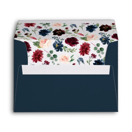 Radiant Bloom Pre Printed Return Address 5x7 Envelope