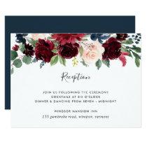 Radiant Bloom Reception Card