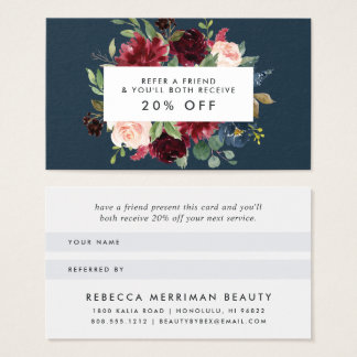 Radiant Bloom Referral Business Card