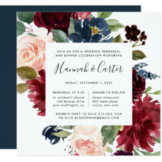 Radiant Bloom Rehearsal Dinner Invitation