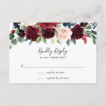 "Radiant Bloom RSVP Card<br><div class=""desc"">Designed to coordinate with our Radiant Bloom wedding collection,  this lush floral RSVP card features a spray of watercolor flowers in burgundy marsala,  blush pink and navy blue,  topping your desired response date and custom accept and decline wording.</div>"