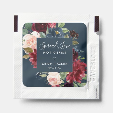 Radiant Bloom | Spread Love, Not Germs Wedding Hand Sanitizer Packet