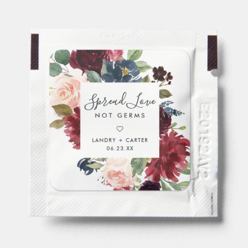 Radiant Bloom   Spread Love, Not Germs Wedding Hand Sanitizer Packet