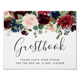 Radiant Bloom Wedding Guestbook Sign