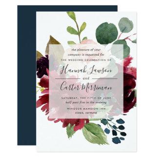 Radiant Bloom Wedding Invitation