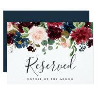 Radiant Bloom Wedding Reserved Sign Invitation