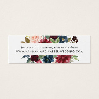 Radiant Bloom Wedding Website Cards