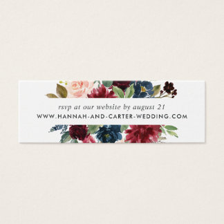 Radiant Bloom Wedding Website RSVP Cards