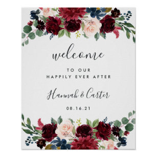 cf1258909a1b3 Radiant Bloom Wedding Welcome Poster