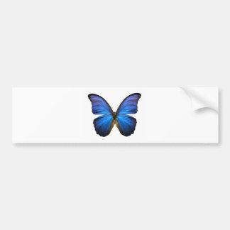 Radiant Blue Butterfly Bumper Sticker