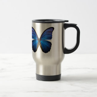 Radiant Blue Butterfly Travel Mug