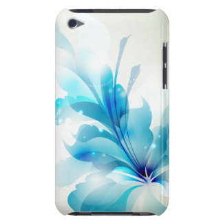 Radiant Blue Floral iPod Touch Case