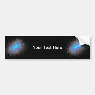 Radiant Blue Starburst Bumper Sticker