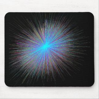 Radiant Blue Starburst Mouse Pad