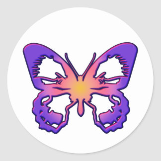 Radiant Butterfly Classic Round Sticker