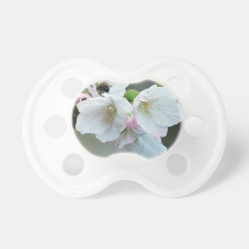 Radiant cherry blossom pacifier