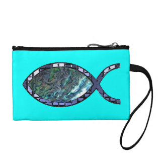 Radiant Christian Fish Symbol Coin Purses