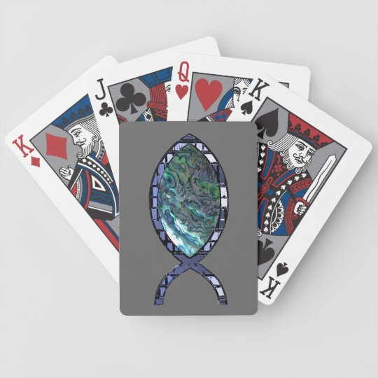 Radiant Christian Fish Symbol Bicycle Playing Cards