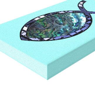 Radiant Christian Fish Symbol Canvas Print